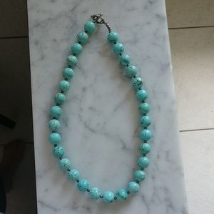 Jewelry - Southwest style turquoise bead necklace sterling